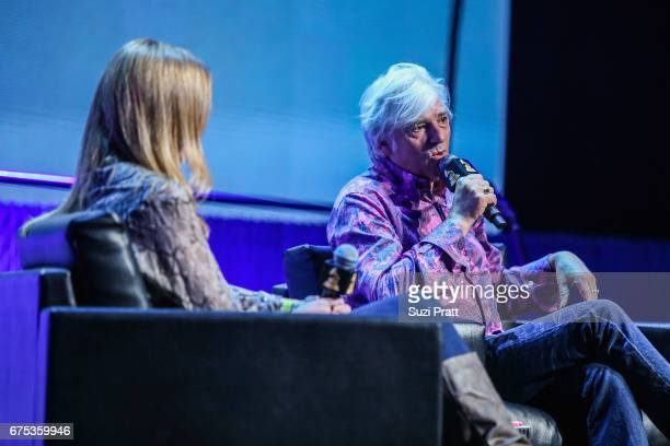 Portia Sabin speaks with singersongwriter Robyn Hitchcock at the GRAMMYPro Songwriter's Summit at Museum of Pop Culture on April 30 2017 in Seattle...