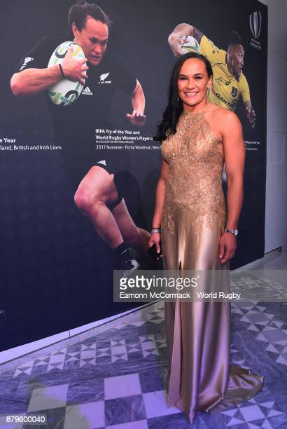 Portia Woodman of the New Zeland Black Ferns attends the World Rugby Awards 2017 in the Salle des Etoiles at MonteCarlo Sporting Club on November 26...