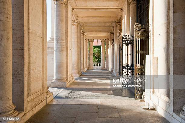 portico of palazzo dei conservatori - high renaissance stock pictures, royalty-free photos & images