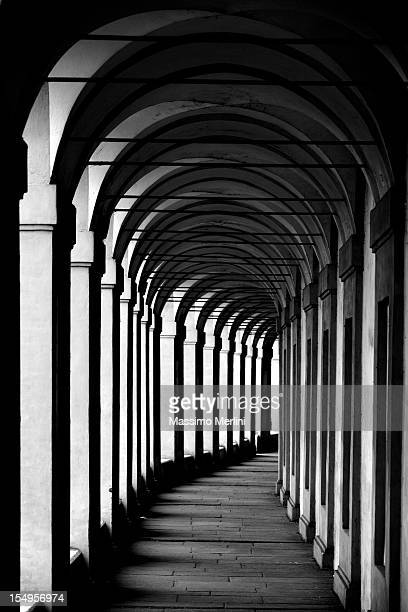 portico di san luca in bologna - colonnade stock pictures, royalty-free photos & images