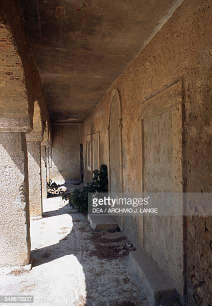 Portico of the Hospidarias Casa dos Cirios accommodation for pilgrims Nossa Senhora do Cabo de Espichel Historical Province of Extremadura Alentejo...