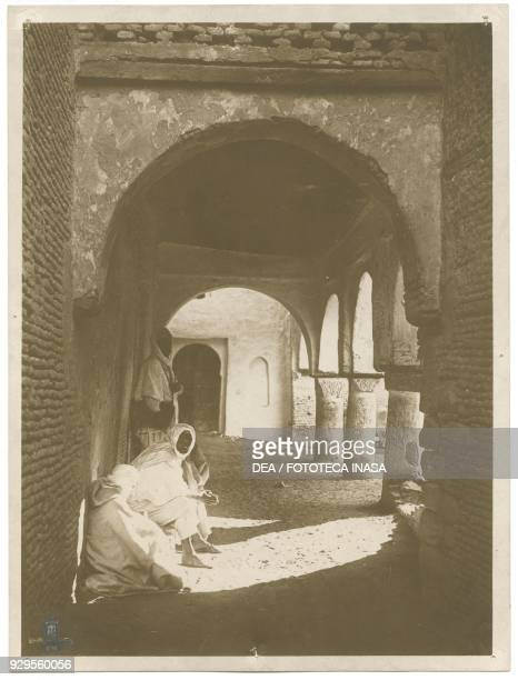Portico with columns along a road in the old town Gafsa Tunisia photograph by Lehnert and Landrock Tunis 19041914