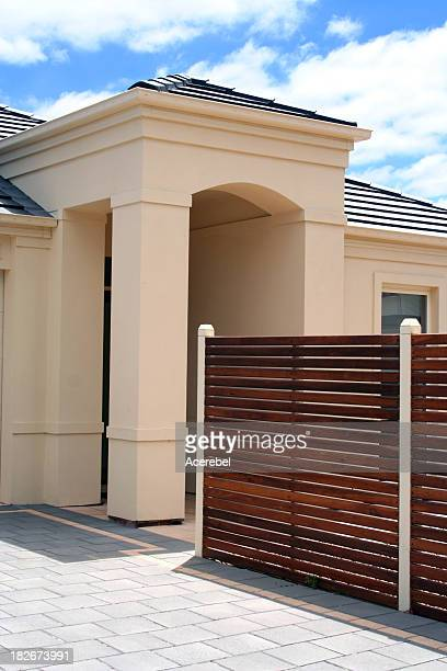 Portico with fence