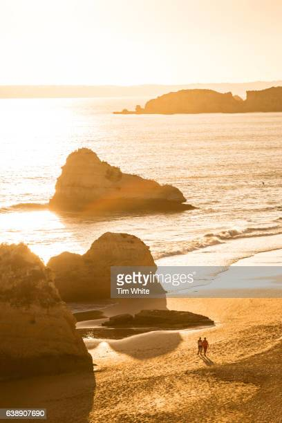 Portimao coastline at sunset, Portugal