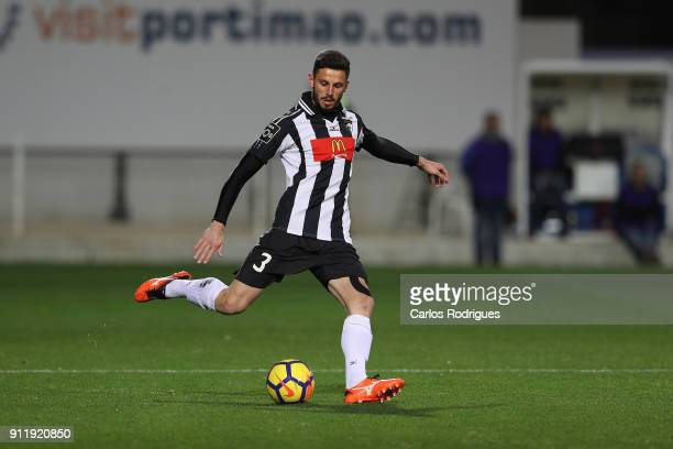Portimonense defender Lucas Possignolo from Brazil during the match between Portimonense SC and Rio Ave FC for the Portuguese Primeira Liga at...
