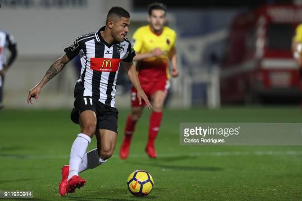 Portimonense forward Bruno Tabata from Brazil during the match between Portimonense SC and Rio Ave FC for the Portuguese Primeira Liga at Portimao...