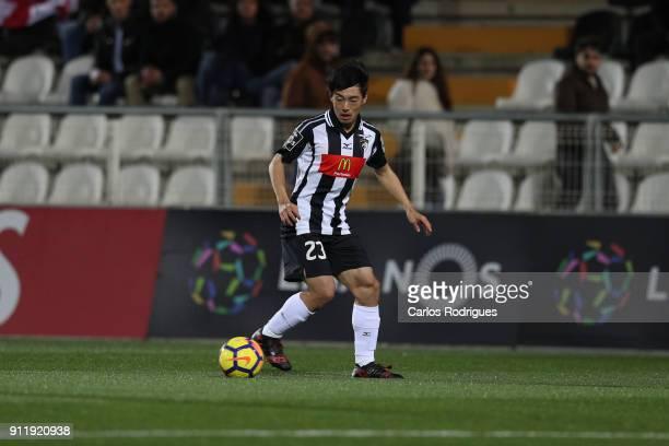 Portimonense forward Shoya Nakajima from Japan during the match between Portimonense SC and Rio Ave FC for the Portuguese Primeira Liga at Portimao...