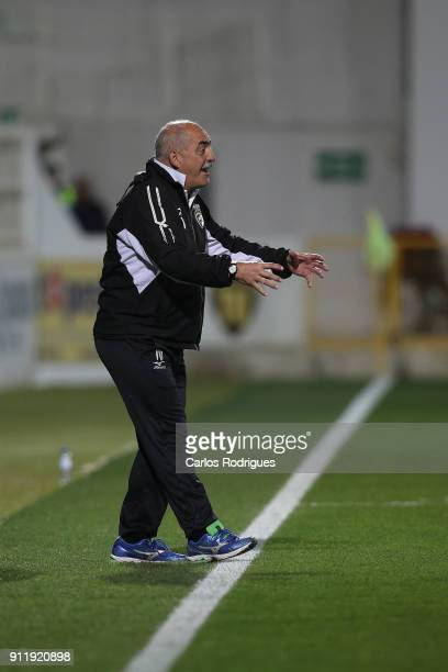 Portimonense head coach Vitor Oliveira from Portugal during the match between Portimonense SC and Rio Ave FC for the Portuguese Primeira Liga at...