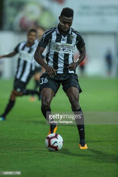 Portimonense SC defender Emma Hackman from Ghana during the Portimonense SC v FC Porto PreSeason Friendly match at Estadio Municipal de Portimao on...