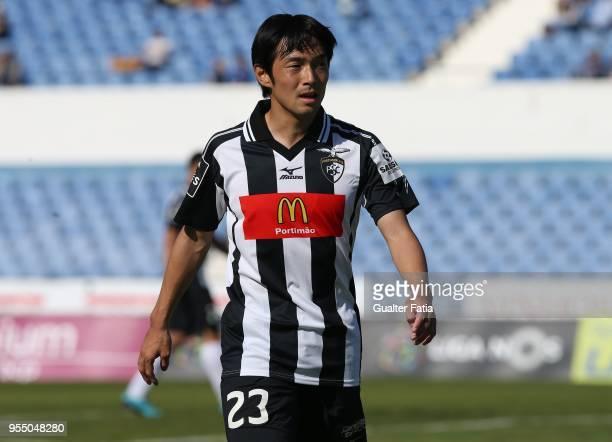 Portimonense SC forward Shoya Nakajima from Japan during the Primeira Liga match between CF Os Belenenses and Portimonense SC at Estadio do Restelo...