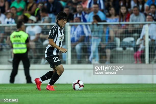 Portimonense SC forward Shoya Nakajima from Japan during the Portimonense SC v FC Porto PreSeason Friendly match at Estadio Municipal de Portimao on...