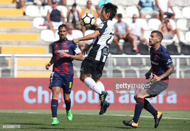 Portimonense SC forward Shoya Nakajima from Japan in action during the Portuguese League Cup match between Portimonense SC and GD Chaves at Estadio...
