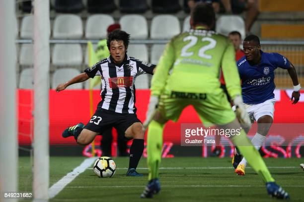 Portimonense SC forward Shoya Nakajima from Japan in action during the Portuguese Primeira Liga match between Portimonense SC and CD Feirense at...