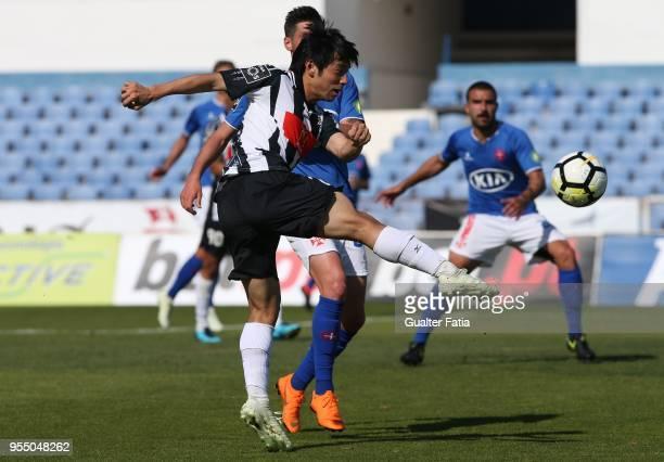 Portimonense SC forward Shoya Nakajima from Japan in action during the Primeira Liga match between CF Os Belenenses and Portimonense SC at Estadio do...