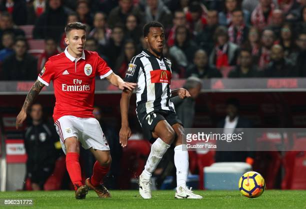 Portimonense SC forward Wellington Carvalho from Brazil with SL Benfica defender Alejandro Grimaldo from Spain in action during the Portuguese League...