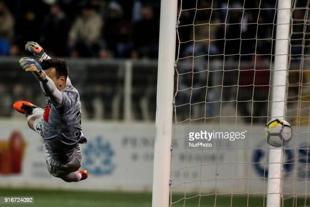 Portimonense's goalkeeper Ricardo Ferreira unable to stop the goal during the Portuguese League football match between Portimonense SC and SL Benfica...