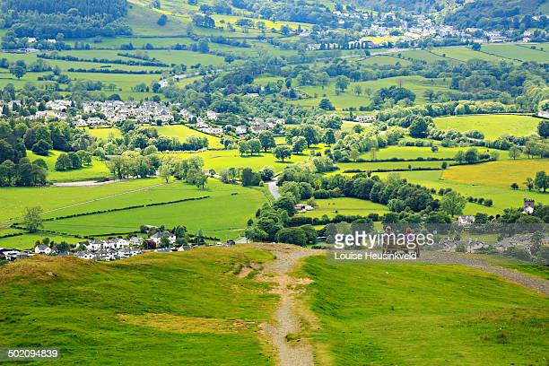 portinscale and braithwaite from latrigg - keswick stock pictures, royalty-free photos & images
