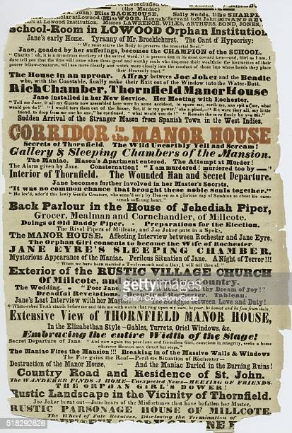 A portion of a playbill for a production of Jane Eyre The Secrets of Thornfield Manor at the Victoria Theatre the theatre is more commonly known as...