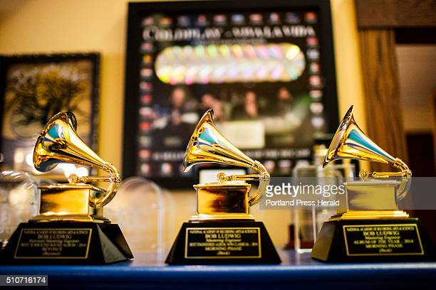 A portion of Bob Ludwig's Grammys in his studio at Gateway Mastering in Portland ME on Friday January 29 2016