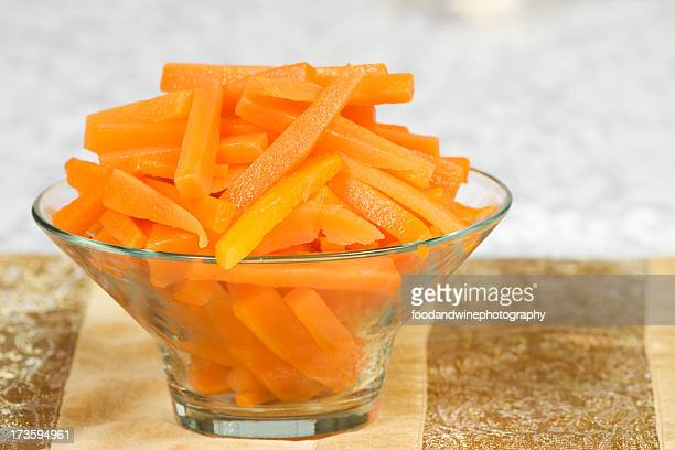 portion of carrots - boiled stock pictures, royalty-free photos & images