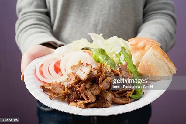 A portion of doner kebab