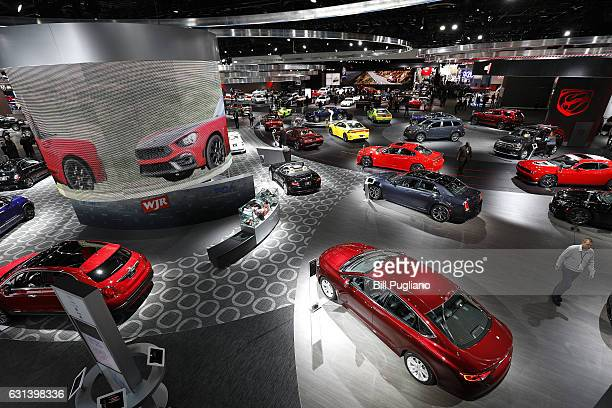 A portion of the Chevrolet exhibit is shown at the 2017 North American International Auto Show on January 10 2017 in Detroit Michigan Approximately...
