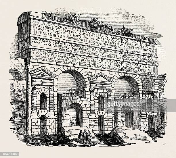 Portion Of The Claudian Aqueduct Rome Italy