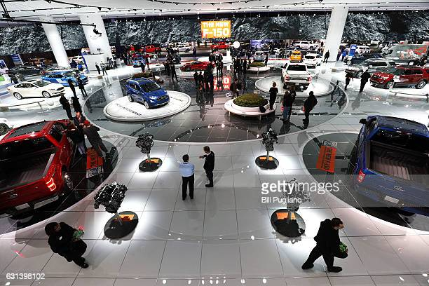 A portion of the Ford display is shown at the 2017 North American International Auto Show on January 10 2017 in Detroit Michigan Approximately 5000...