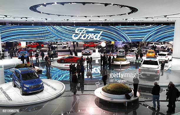 A portion of the Ford exhibit area is shown at the 2017 North American International Auto Show on January 10 2017 in Detroit Michigan Approximately...