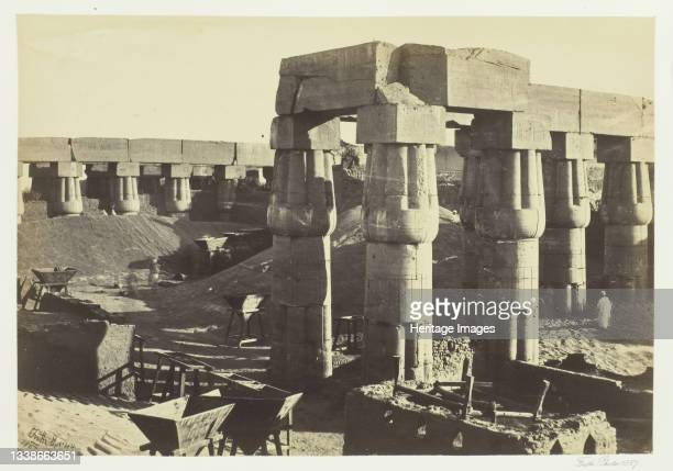 Portion of the Great Temple , Luxor, 1857. Albumen print, pl. 31 from the album 'Egypt and Palestine, volume i' . Artist Francis Frith.