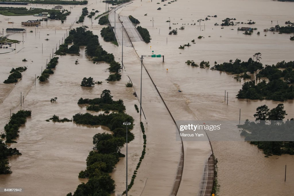 Flooding in Houston From Hurricane Harvey : News Photo