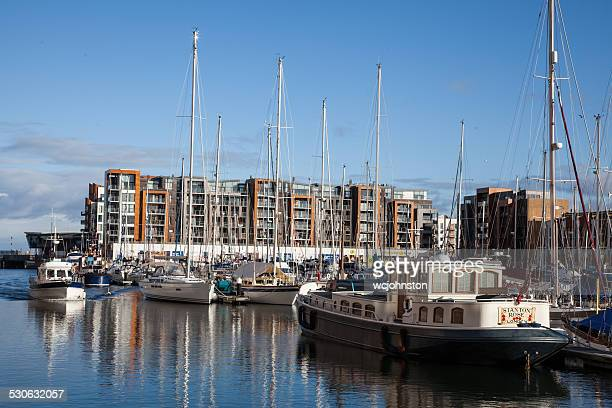 portishead marina - portishead stock pictures, royalty-free photos & images