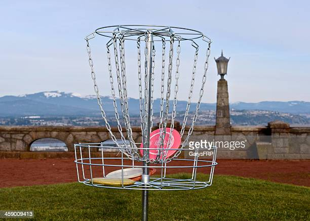 Portlable Frisbee Disc Golf Target Basket Rocky Butte Portland Oregon