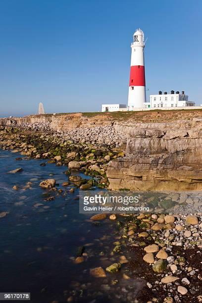 portland bill lighthouse, isle of portland, dorset, england, united kingdom, europe - gavin hellier stock pictures, royalty-free photos & images