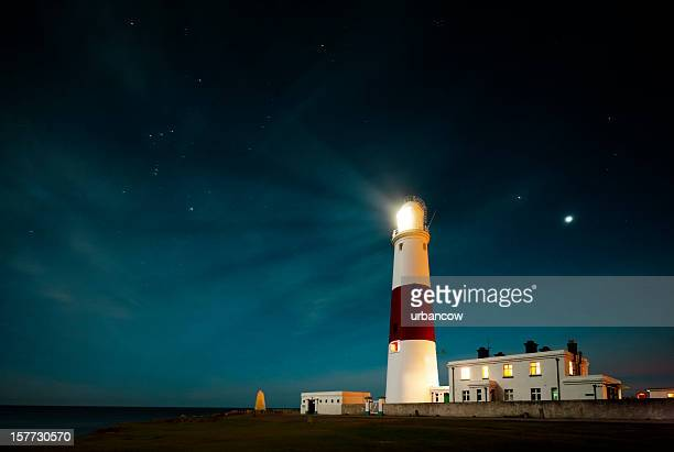 portland bill lighthouse - lighthouse stock pictures, royalty-free photos & images