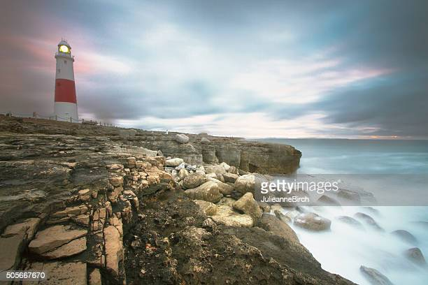 portland bill lighthouse - southwest england stock photos and pictures