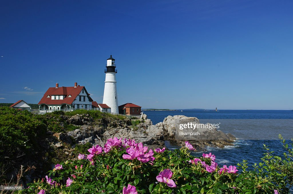 Portland Head Light Lighthouse in Maine : Stock Photo