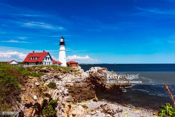 portland head light - portland maine stock pictures, royalty-free photos & images