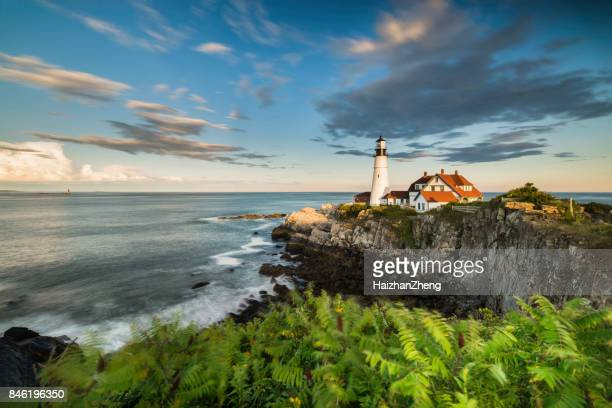 portland head light - maine stock pictures, royalty-free photos & images