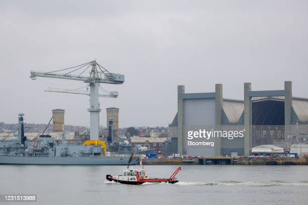 Portland is moored at a section of Plymouth port operated by Babcock International near the site of the Devonport freeport in Plymouth, U.K., on...