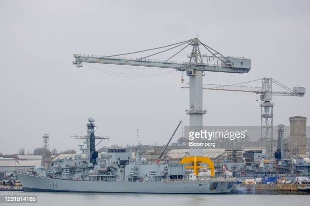 Portland is moored at Plymouth port near the site of the Devonport freeport in Plymouth, U.K., on Thursday, March 4, 2021. U.K. Chancellor Rishi...