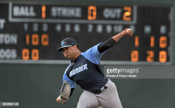 Portland Sea Dogs vs the Trenton Thunder baseball game Trenton starting pitcher Justus Sheffield pitched a strong game against the Sea Dogs