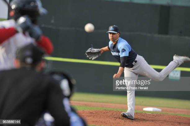 Portland Sea Dogs vs the Trenton Thunder baseball game Trenton starter Justus Sheffield pitches