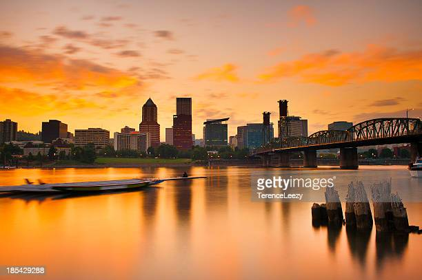 Portland Skyline at Sunset