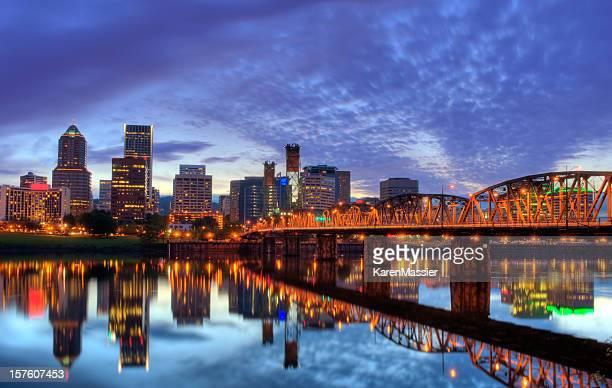 Vista de los edificios de Portland