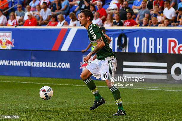 Portland Timbers defender Zarek Valentin during the second half of the game between the New York Red Bulls and the Portland Timbers played at Red...