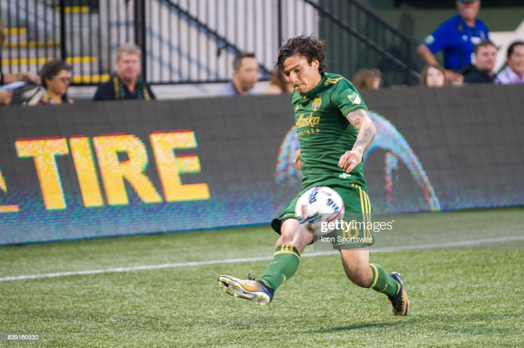 Portland Timbers Defender Zarek Valentin Takes A Cross During The First  Half Of The Portland Timbers