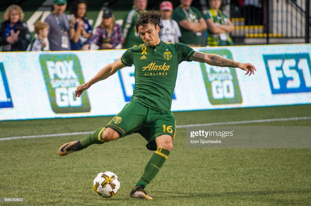 Portland Timbers Defender Zarek Valentin Takes A Cross During The Orlando  City SC Match With The