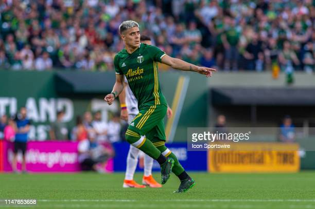 Portland Timbers forward Brian Ferández during the Los Angeles FC game against the Portland Timbers on June 01 at Providence Park in Portland OR