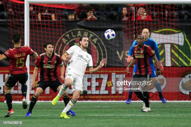 Portland Timbers forward Lucas Melano eyes the ball during the MLS Cup between the Atlanta United FC and the Portland Timbers on December 8 2018 at...